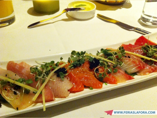Entrada: sashimis.....