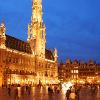 Esta é Bruxelas (foto tirada da internet :P).
