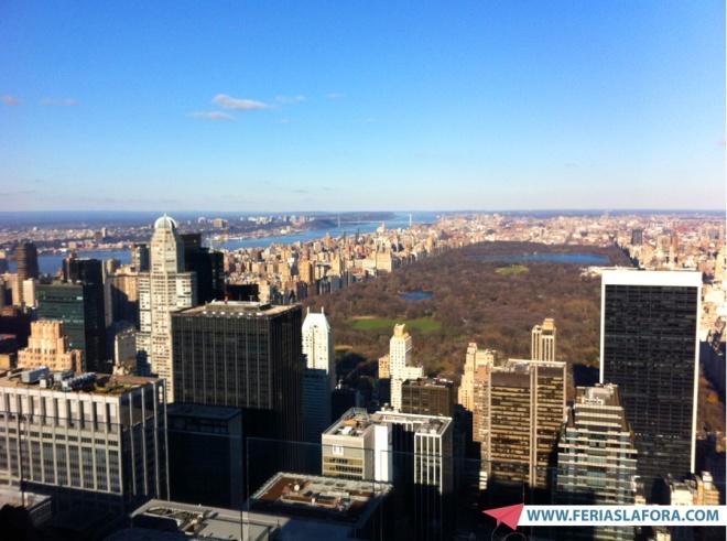 Melhor visão de Nova York. De um lado o Central Park. Do outro o Empire State.