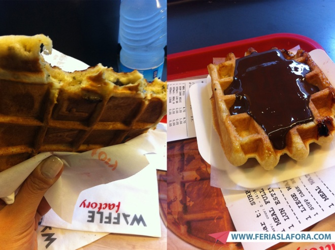 Waffle Factory, em Bruxelas: waffles salgados, waffles doces, puro chocolate belga derretido...