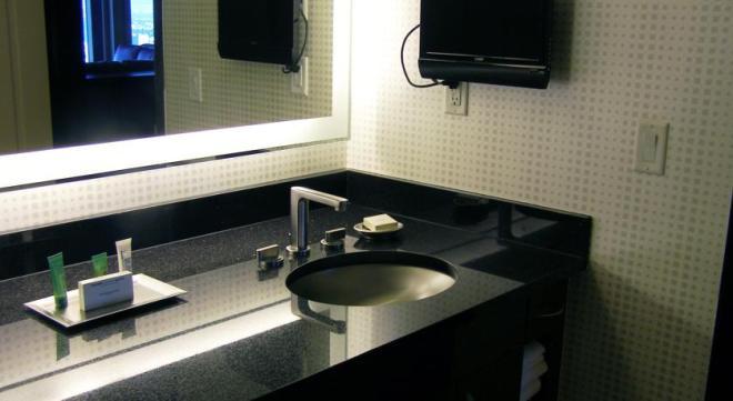 O banheiro também era incrível...